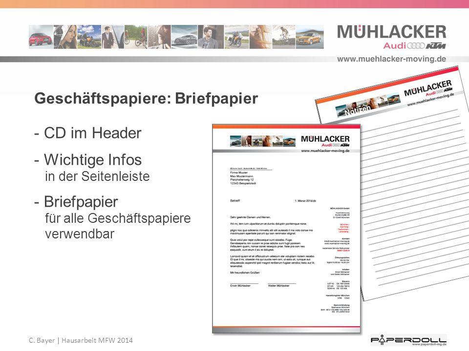 Geschäftspapiere: Briefpapier
