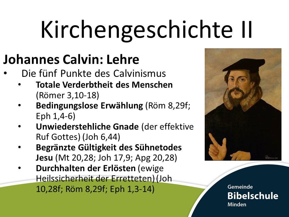 Kirchengeschichte II Johannes Calvin: Lehre