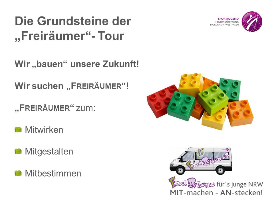 """Die Grundsteine der """"Freiräumer - Tour"""