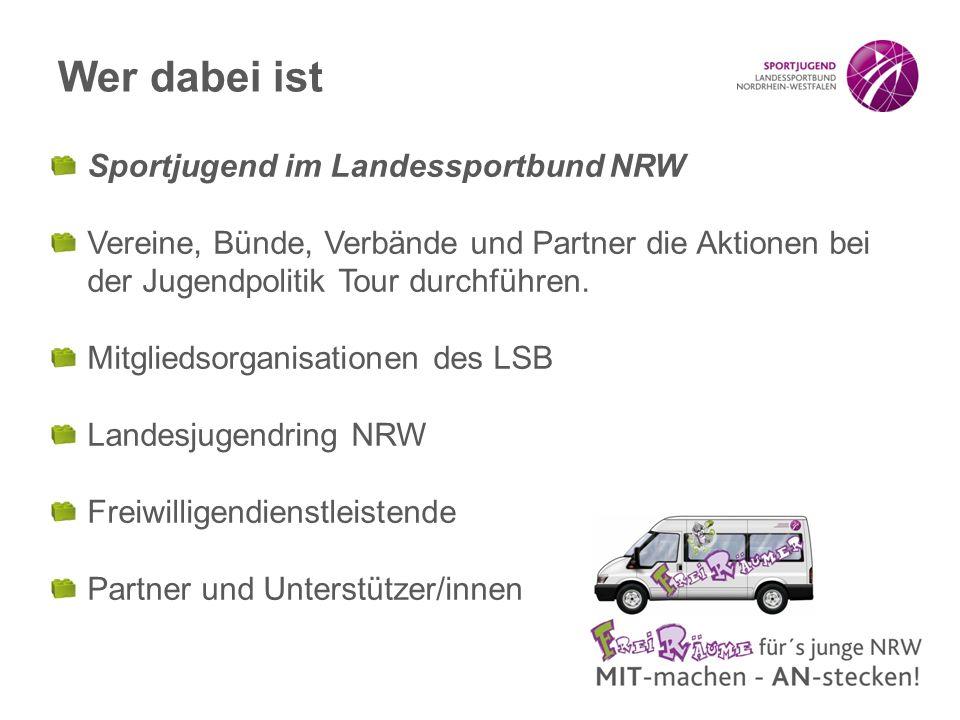 Wer dabei ist Sportjugend im Landessportbund NRW