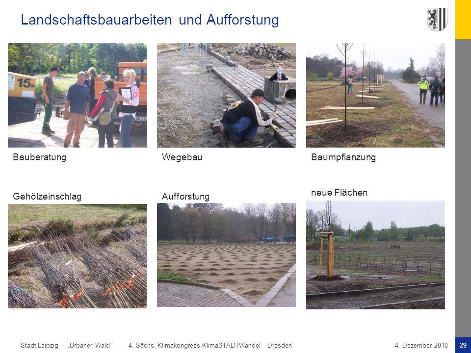 Landschaftsbauarbeiten und Aufforstung