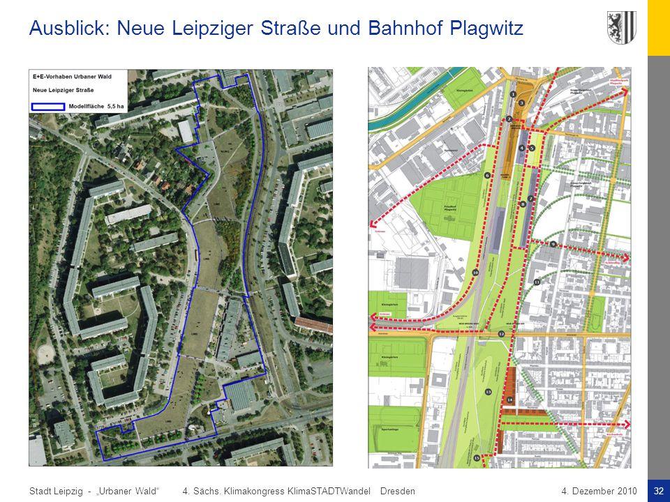 Ausblick: Neue Leipziger Straße und Bahnhof Plagwitz