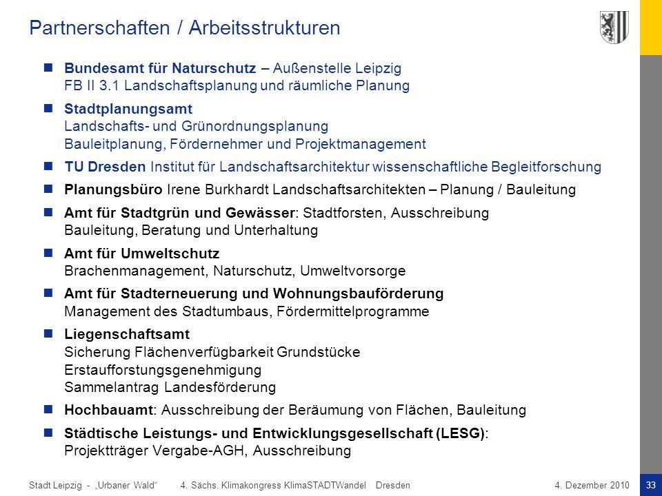Partnerschaften / Arbeitsstrukturen