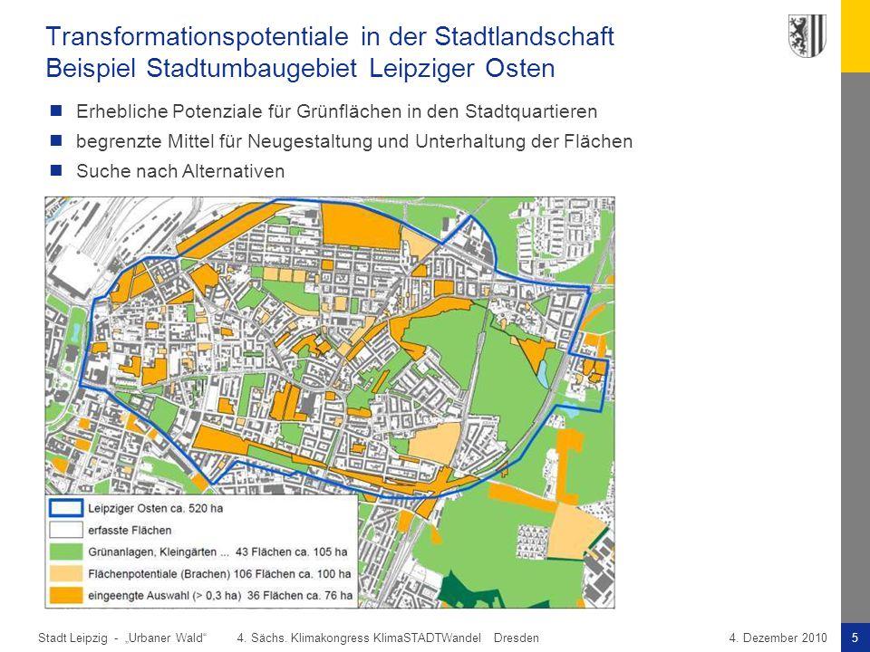 Transformationspotentiale in der Stadtlandschaft Beispiel Stadtumbaugebiet Leipziger Osten
