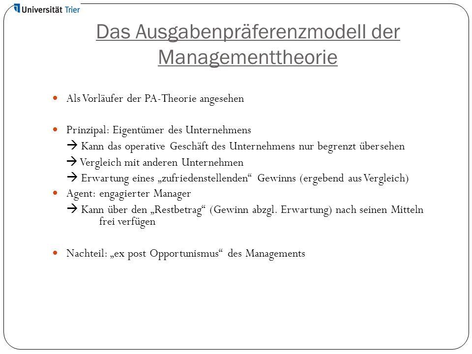 Das Ausgabenpräferenzmodell der Managementtheorie