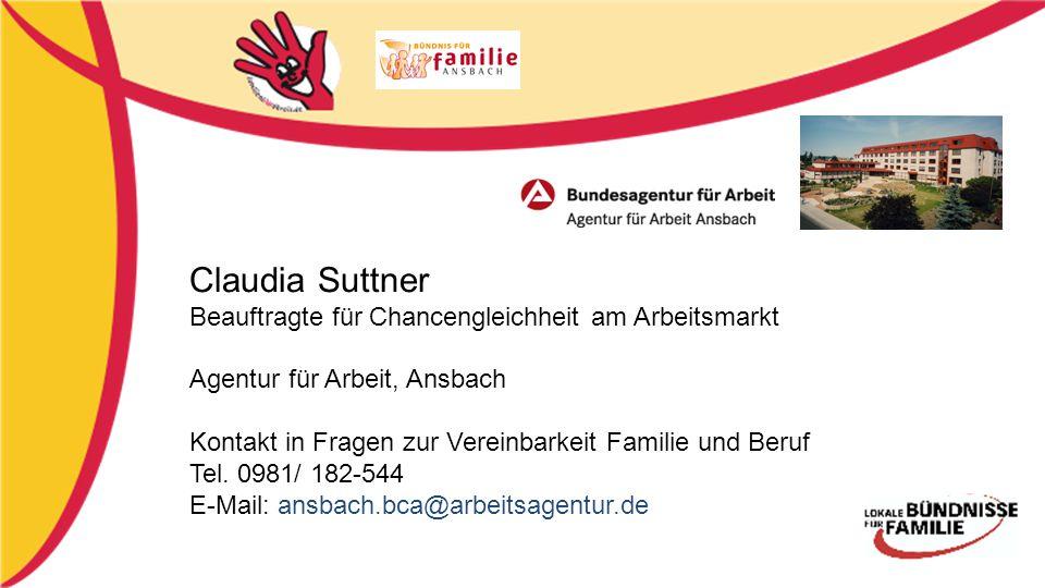 Claudia Suttner Beauftragte für Chancengleichheit am Arbeitsmarkt