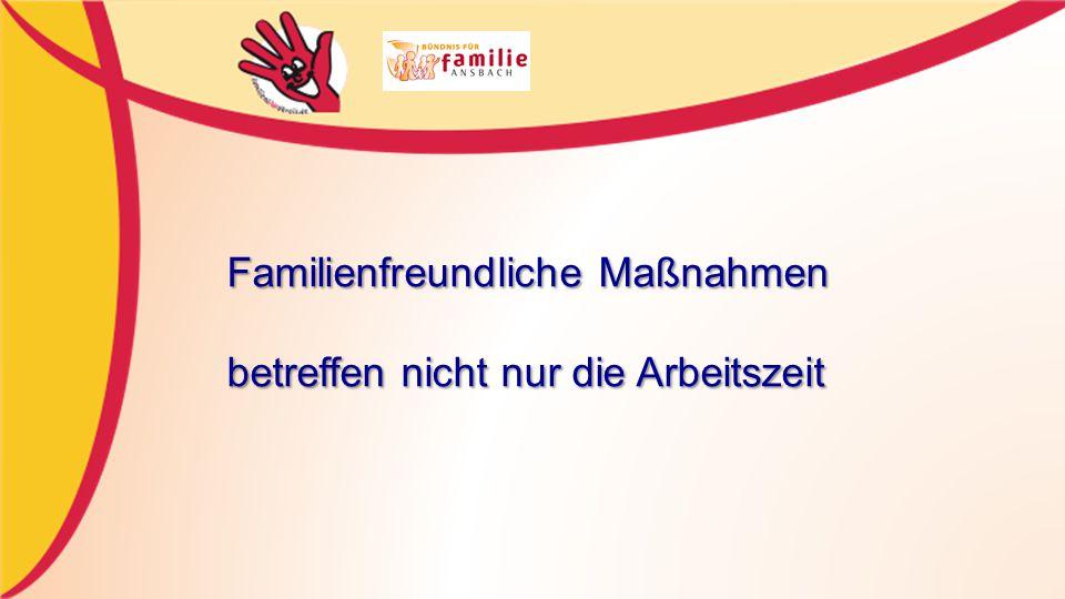 Familienfreundliche Maßnahmen