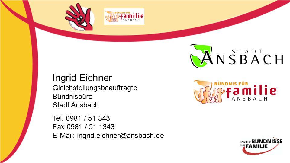 Ingrid Eichner Gleichstellungsbeauftragte Bündnisbüro Stadt Ansbach