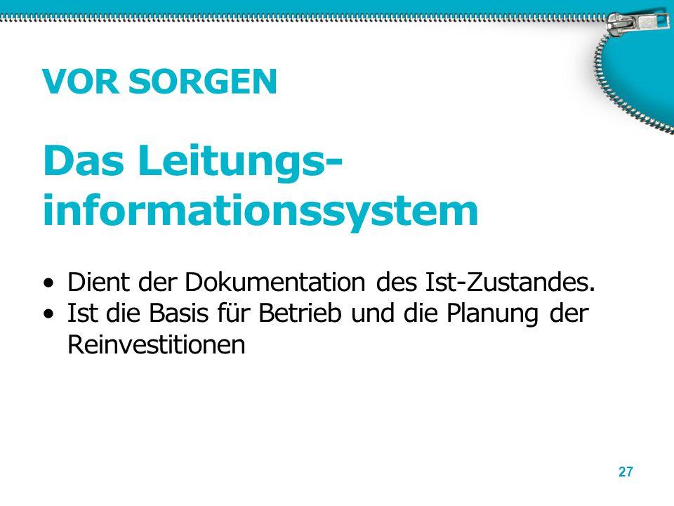 Das Leitungs-informationssystem