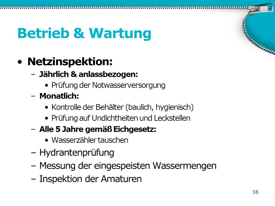 Betrieb & Wartung Netzinspektion: Hydrantenprüfung