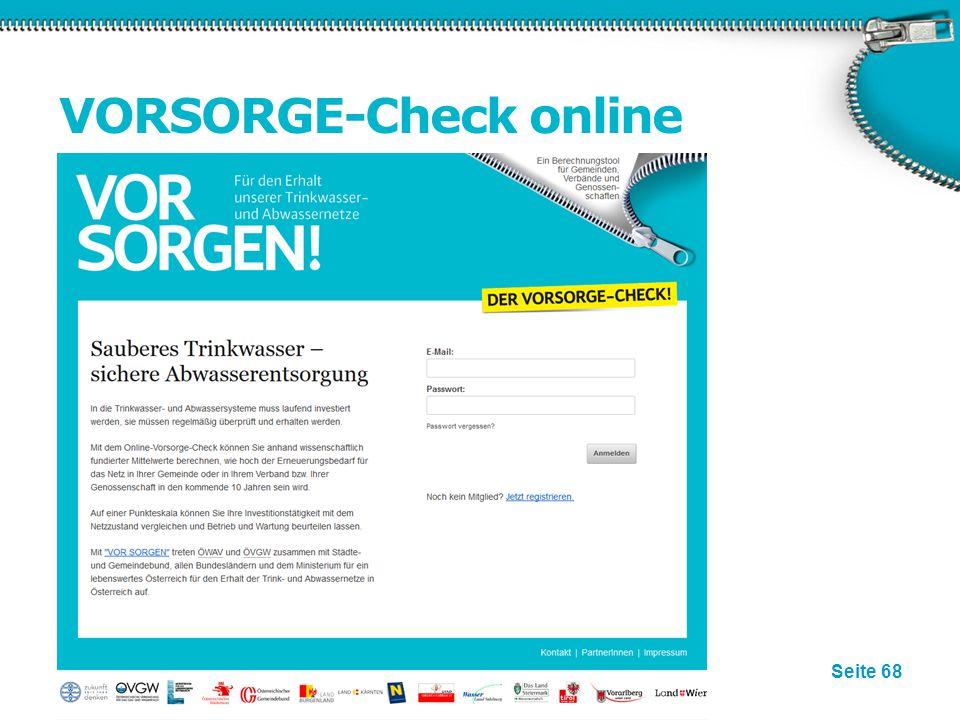VORSORGE-Check online