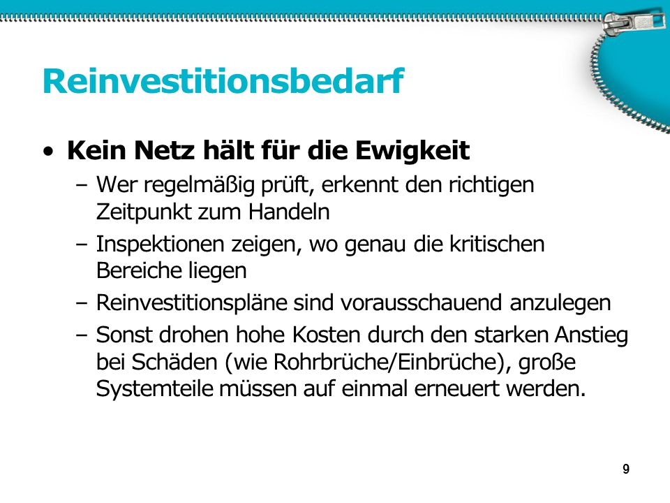 Reinvestitionsbedarf