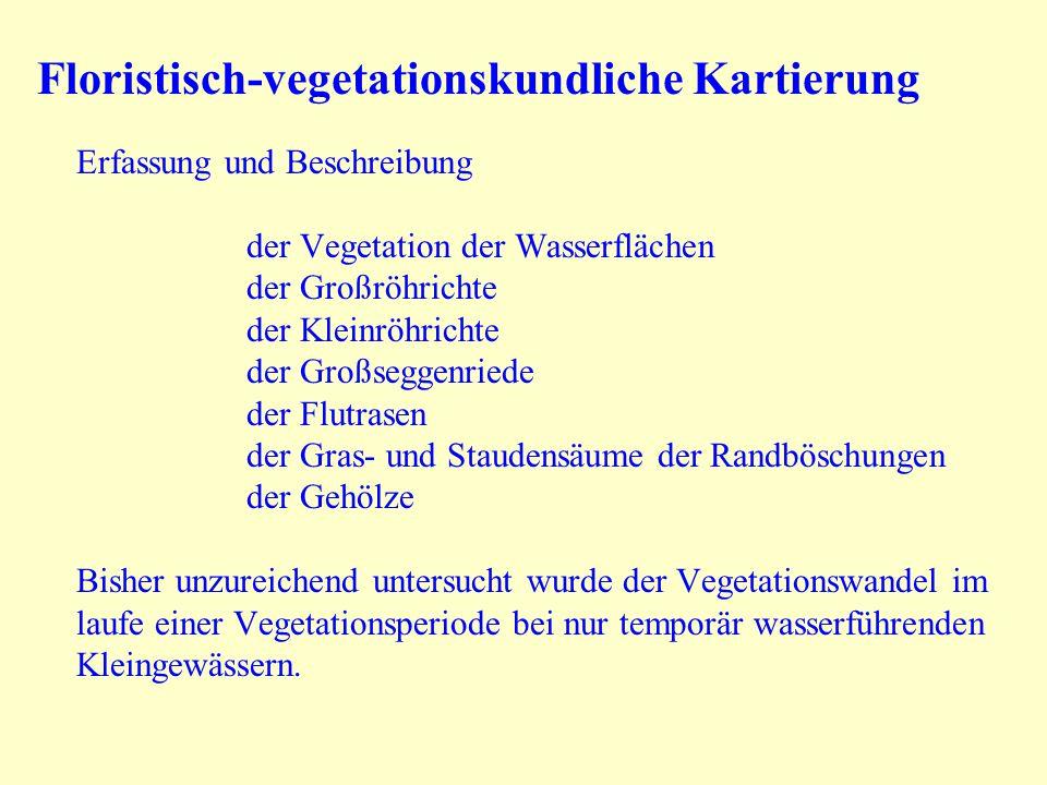 Floristisch-vegetationskundliche Kartierung Erfassung und Beschreibung