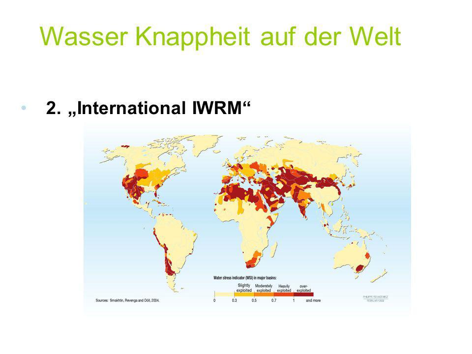 Wasser Knappheit auf der Welt