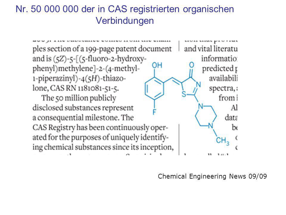 Nr. 50 000 000 der in CAS registrierten organischen Verbindungen