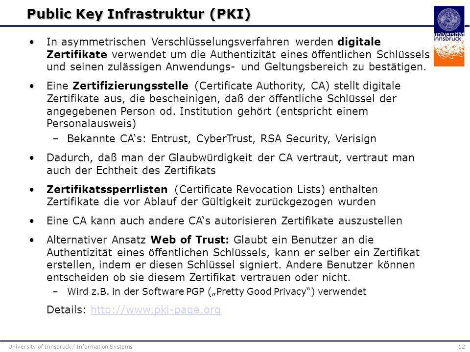Public Key Infrastruktur (PKI)