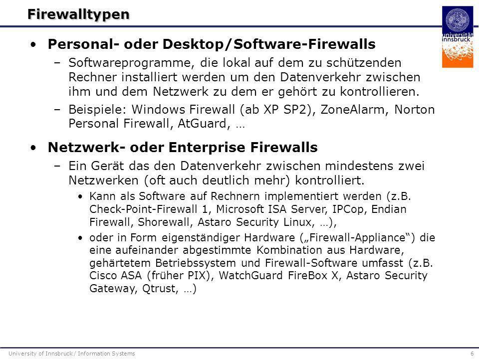 Personal- oder Desktop/Software-Firewalls