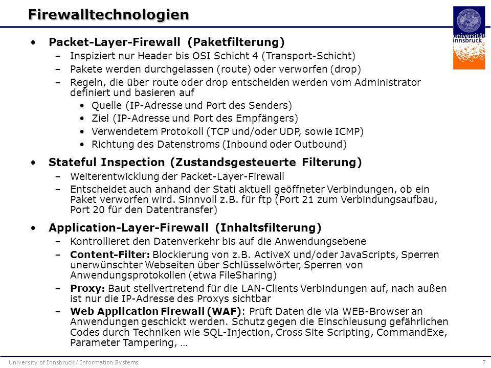 Firewalltechnologien