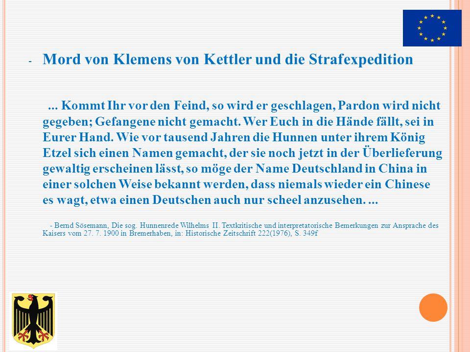Mord von Klemens von Kettler und die Strafexpedition
