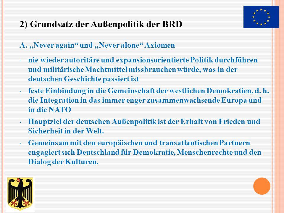 2) Grundsatz der Außenpolitik der BRD