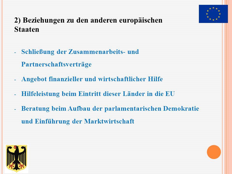 2) Beziehungen zu den anderen europäischen Staaten