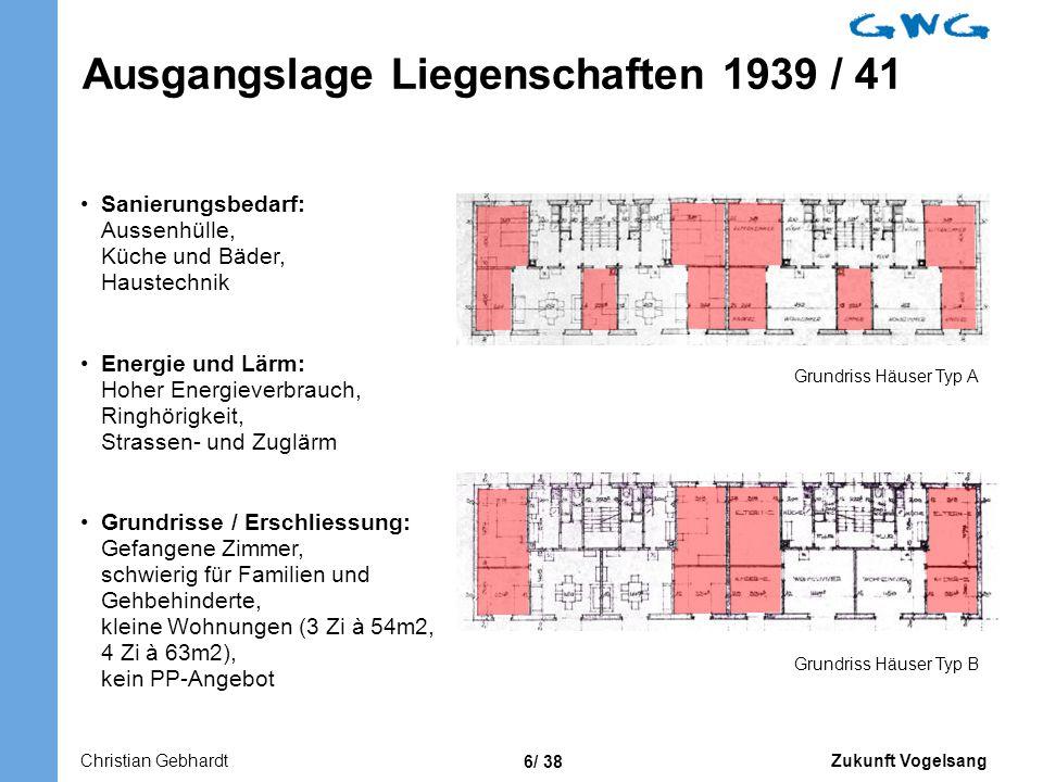 Ausgangslage Liegenschaften 1939 / 41