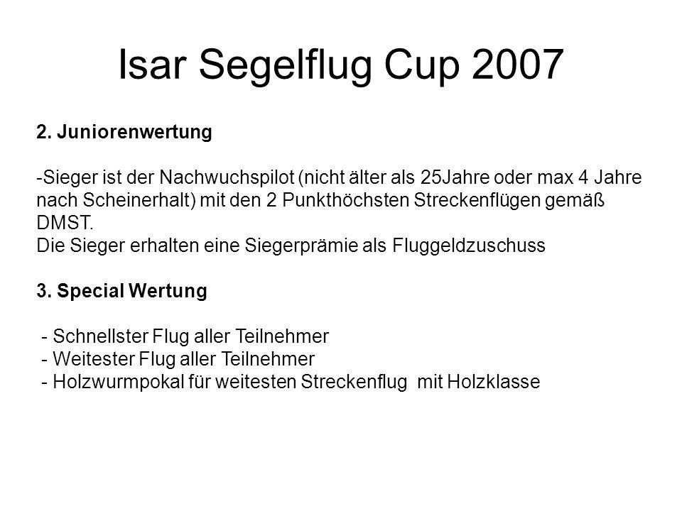 Isar Segelflug Cup 2007 2. Juniorenwertung