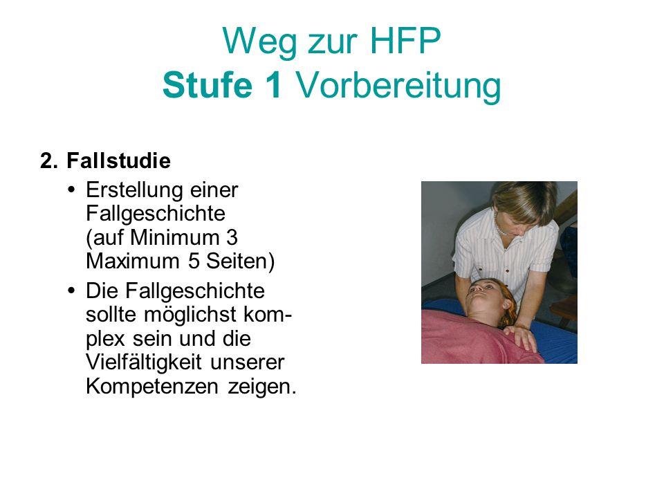 Weg zur HFP Stufe 1 Vorbereitung