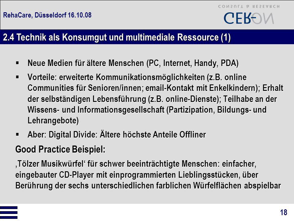 2.4 Technik als Konsumgut und multimediale Ressource (1)