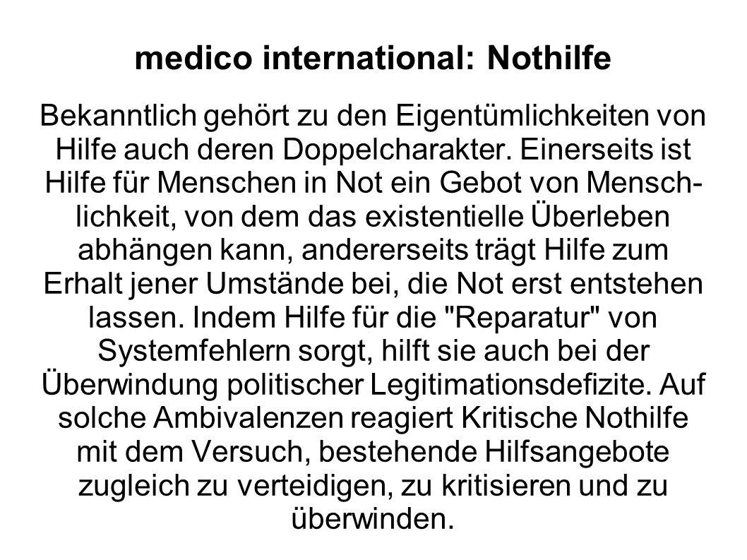 medico international: Nothilfe