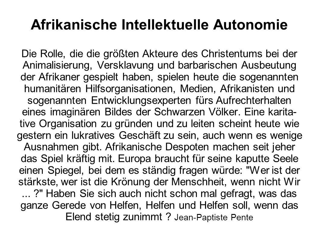 Afrikanische Intellektuelle Autonomie