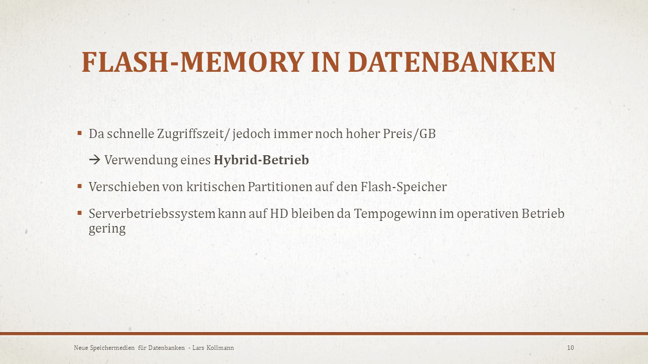 Flash-Memory in Datenbanken