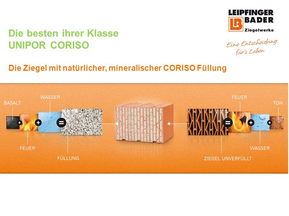 Die besten ihrer Klasse UNIPOR CORISO Die Ziegel mit natürlicher, mineralischer CORISO Füllung