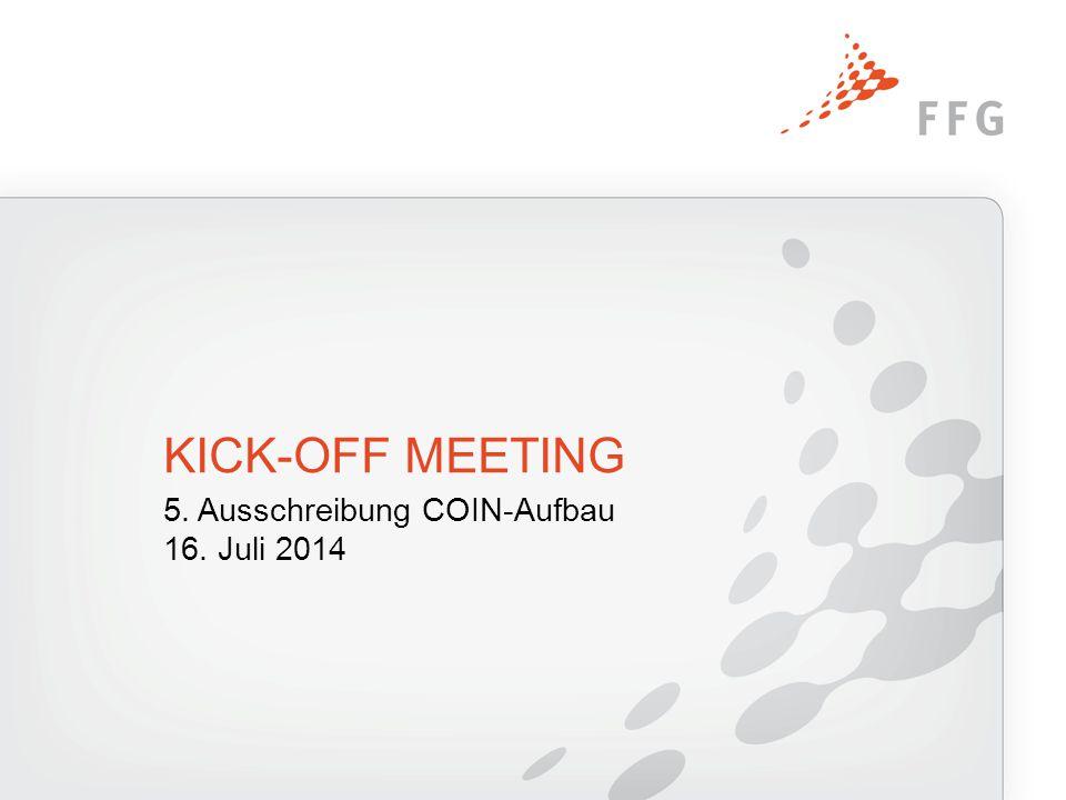 Agenda Begrüßung und Vorstellung der FFG Ergebnisse der Ausschreibung