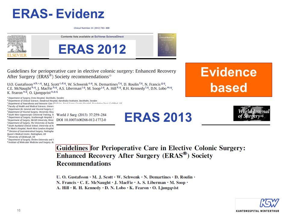 ERAS- Evidenz ERAS 2012 Evidence based ERAS 2013