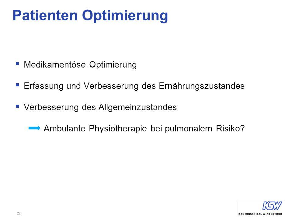Patienten Optimierung