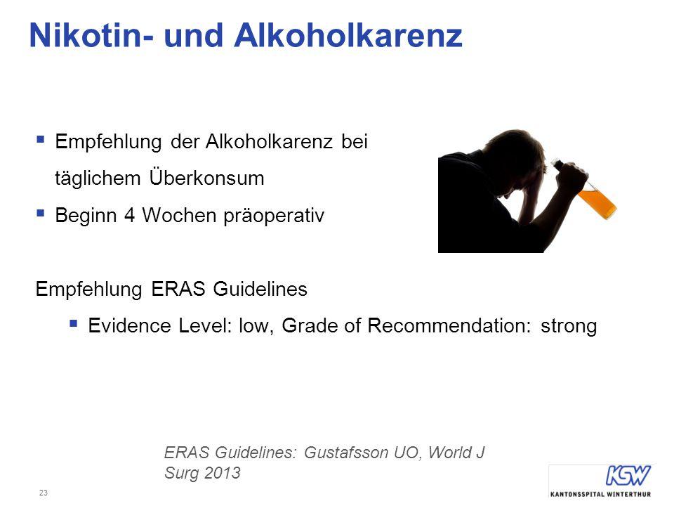 Nikotin- und Alkoholkarenz