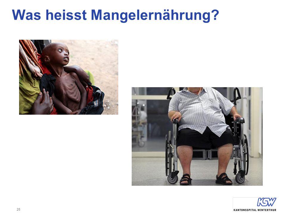 Was heisst Mangelernährung