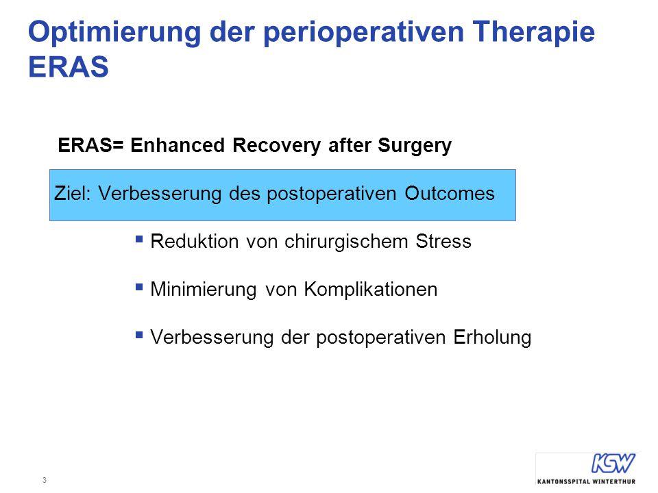 Optimierung der perioperativen Therapie ERAS