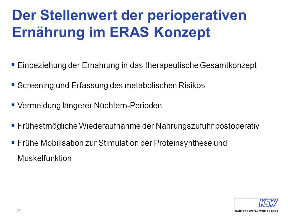 Der Stellenwert der perioperativen Ernährung im ERAS Konzept