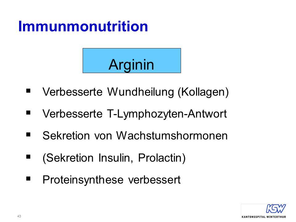 Immunmonutrition Arginin Verbesserte Wundheilung (Kollagen)