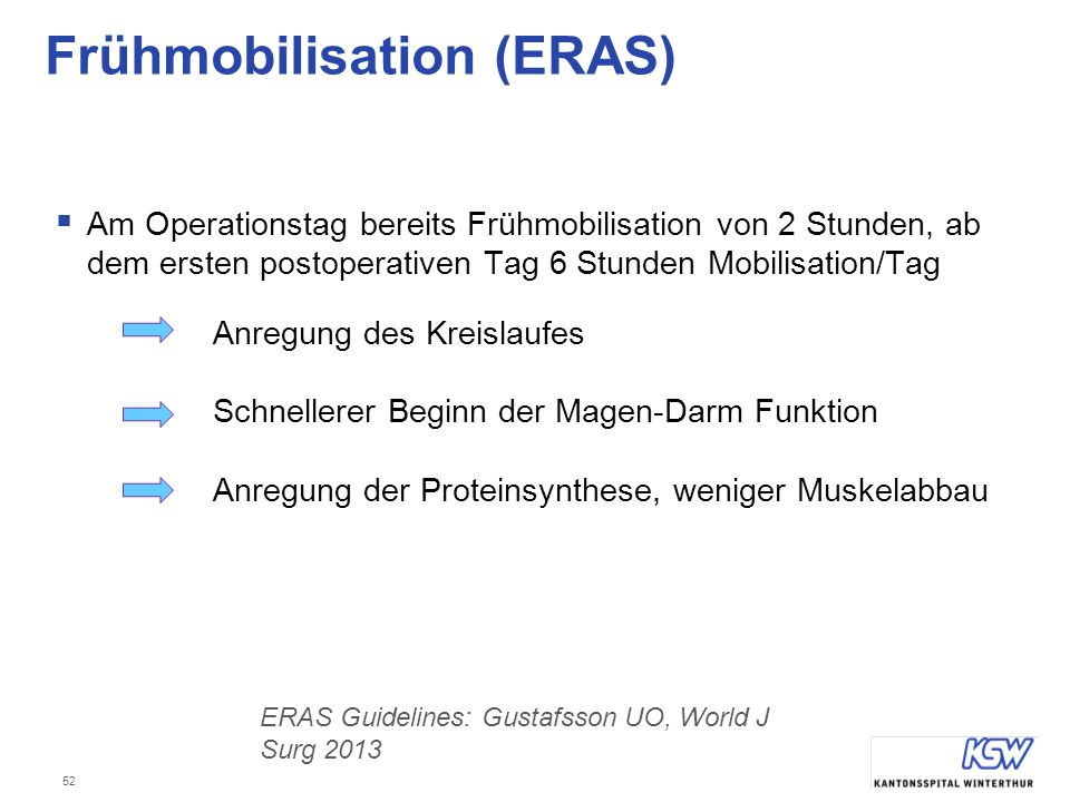 Frühmobilisation (ERAS)