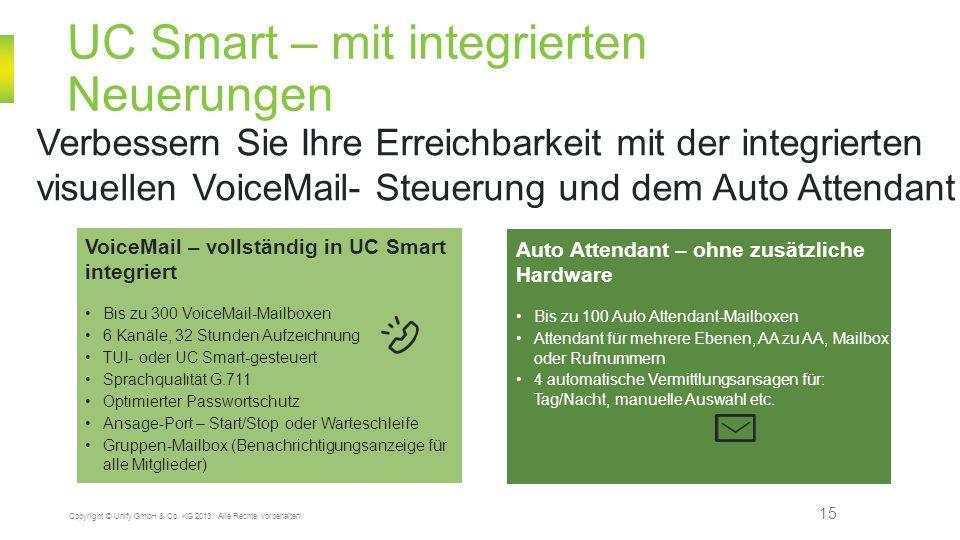 UC Smart – mit integrierten Neuerungen