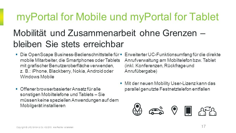 myPortal for Mobile und myPortal for Tablet