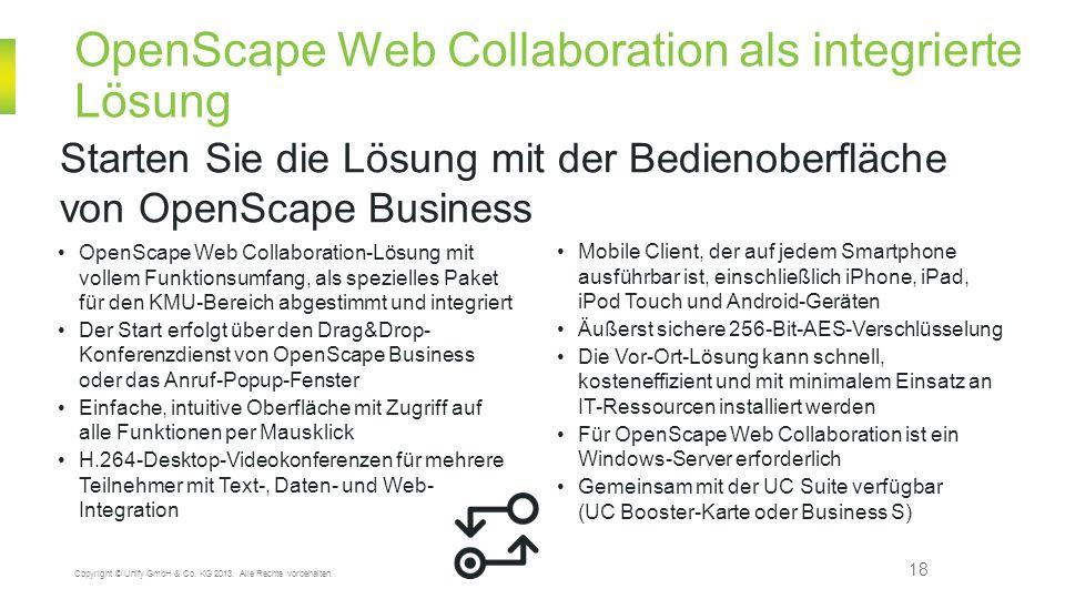 OpenScape Web Collaboration als integrierte Lösung