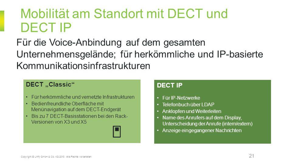 Mobilität am Standort mit DECT und DECT IP