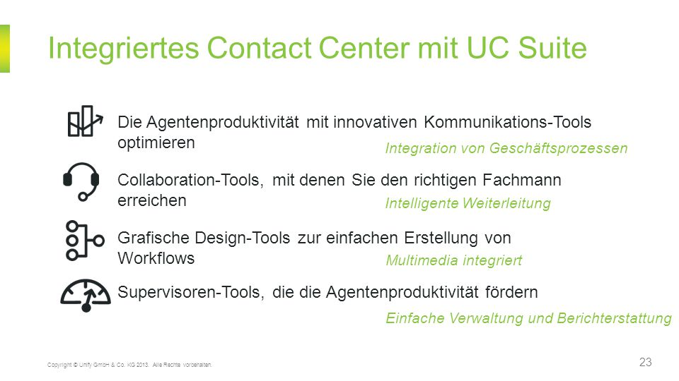 Integriertes Contact Center mit UC Suite