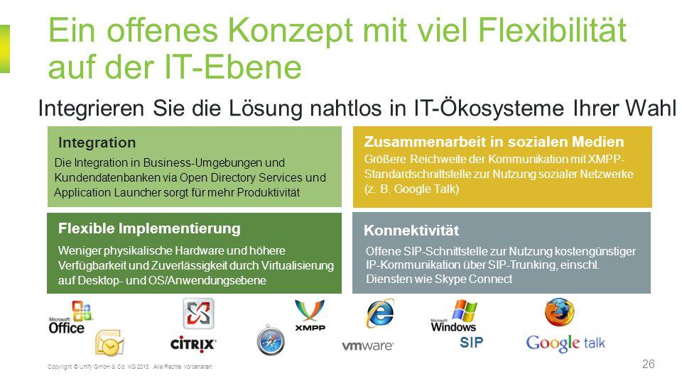 Ein offenes Konzept mit viel Flexibilität auf der IT-Ebene