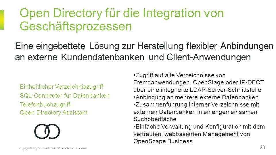 Open Directory für die Integration von Geschäftsprozessen