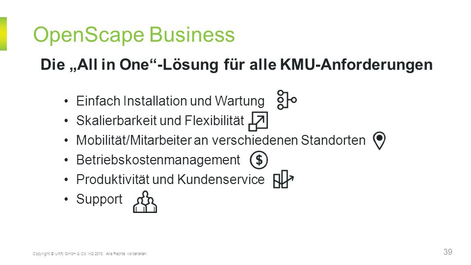 "OpenScape Business Die ""All in One -Lösung für alle KMU-Anforderungen"